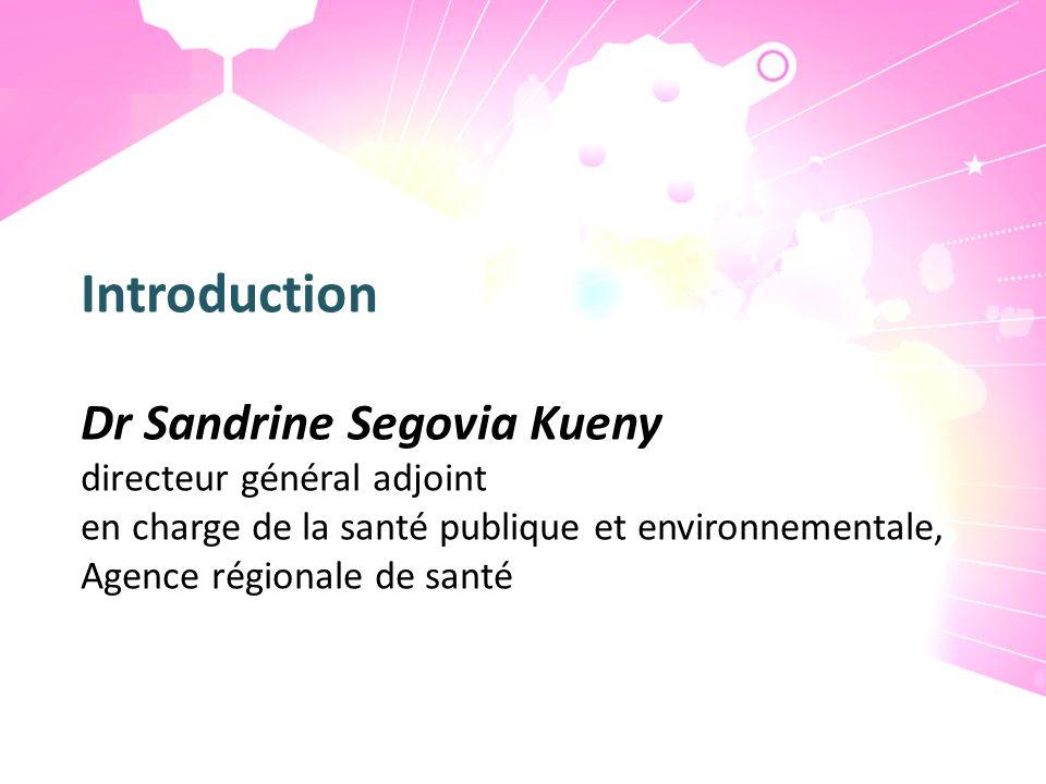 Introduction Dr Sandrine Segovia Kueny directeur général adjoint