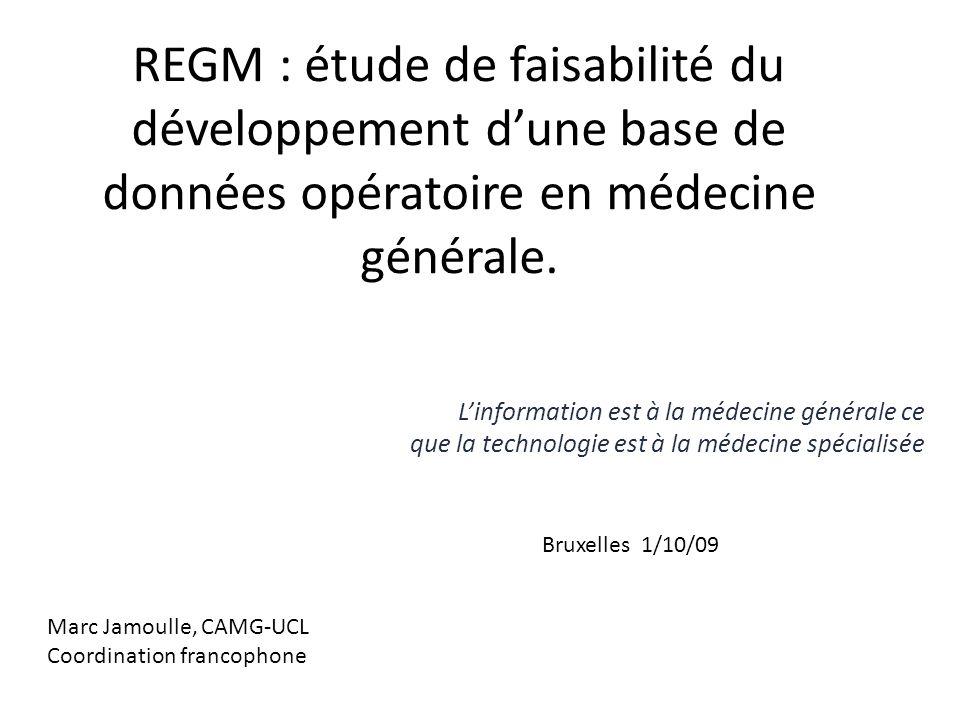 REGM : étude de faisabilité du développement d'une base de données opératoire en médecine générale.