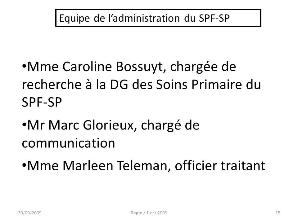 Mr Marc Glorieux, chargé de communication