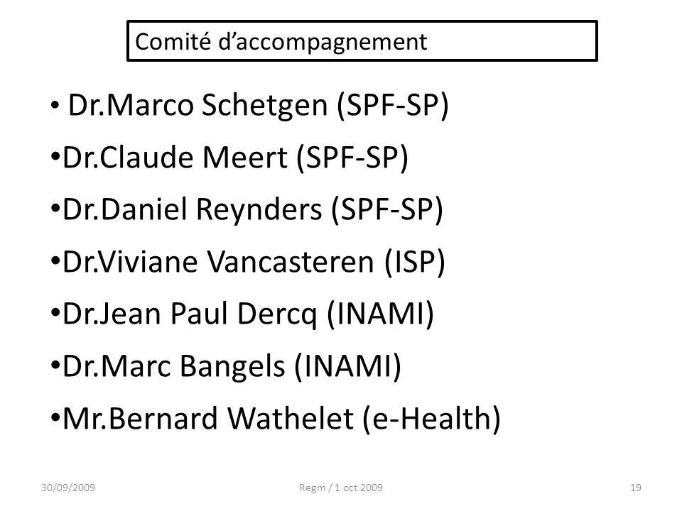 Dr.Claude Meert (SPF-SP) Dr.Daniel Reynders (SPF-SP)