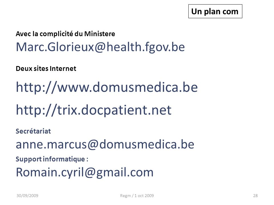 http://www.domusmedica.be http://trix.docpatient.net