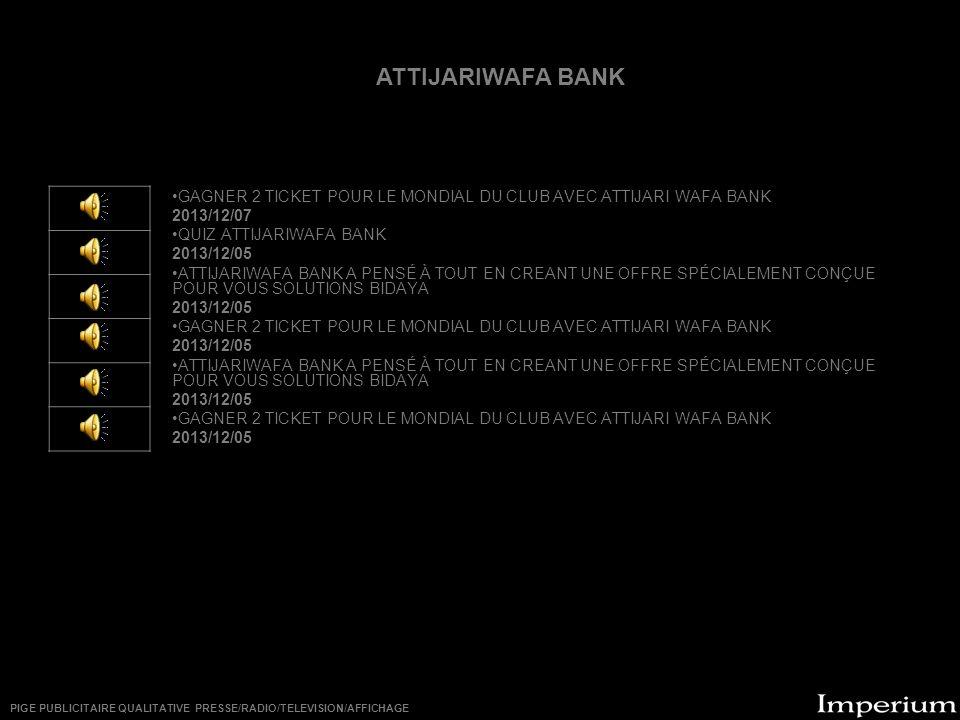 ********** ATTIJARIWAFA BANK