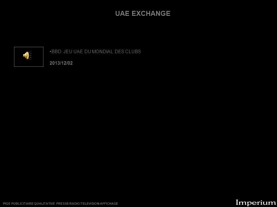 ********** UAE EXCHANGE BBD: JEU UAE DU MONDIAL DES CLUBS 2013/12/02
