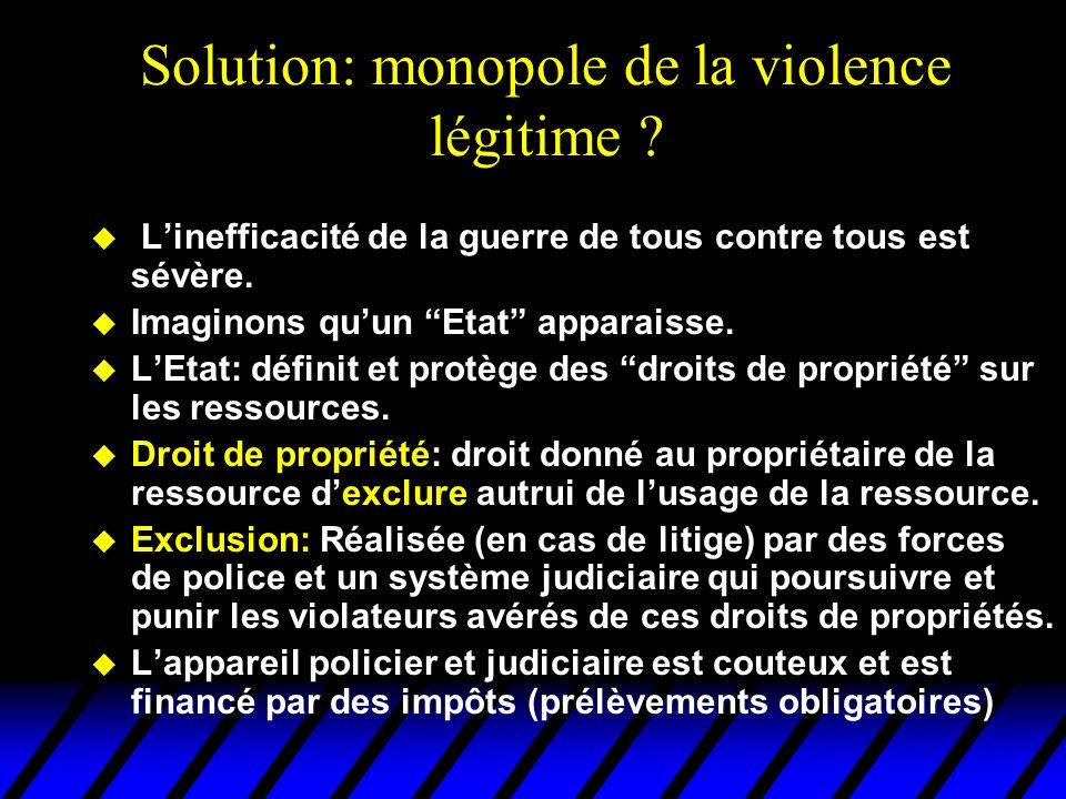 Solution: monopole de la violence légitime
