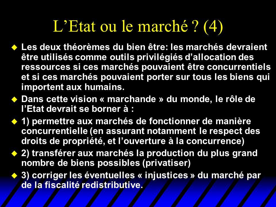 L'Etat ou le marché (4)
