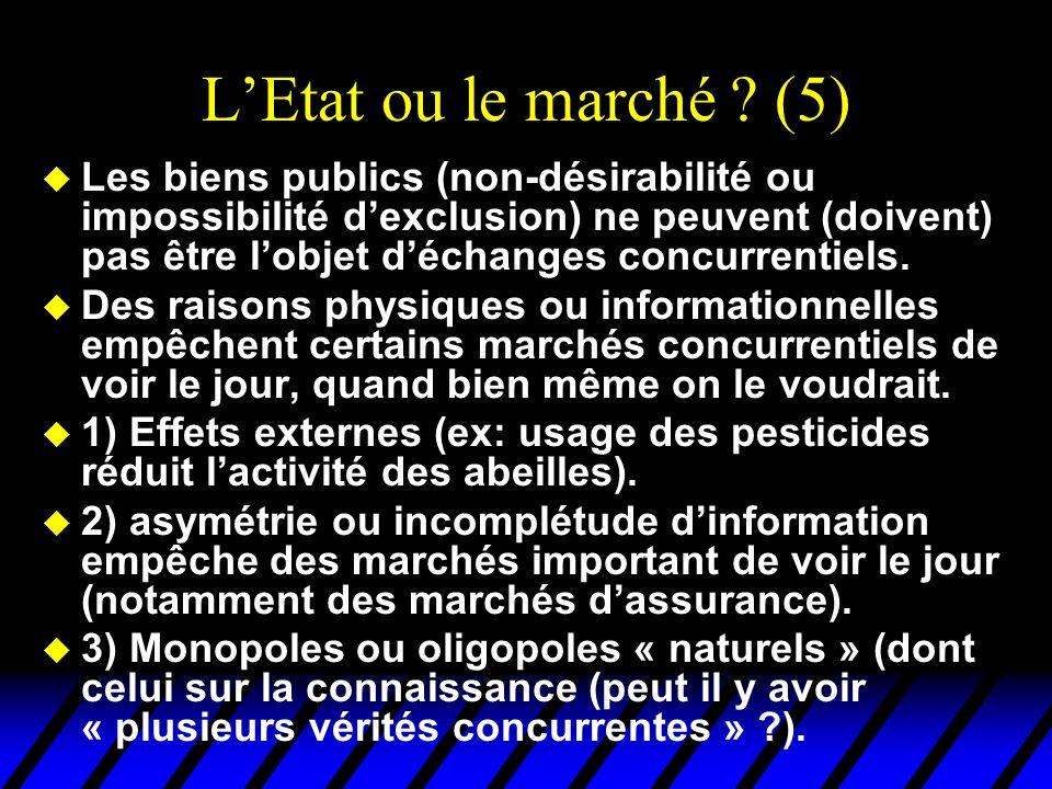 L'Etat ou le marché (5)