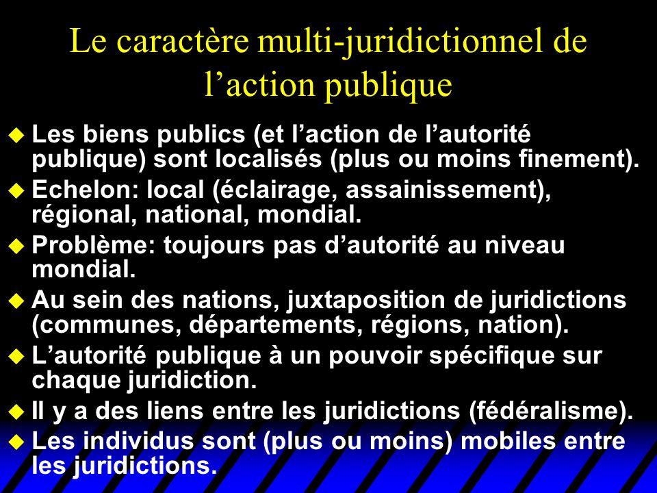 Le caractère multi-juridictionnel de l'action publique