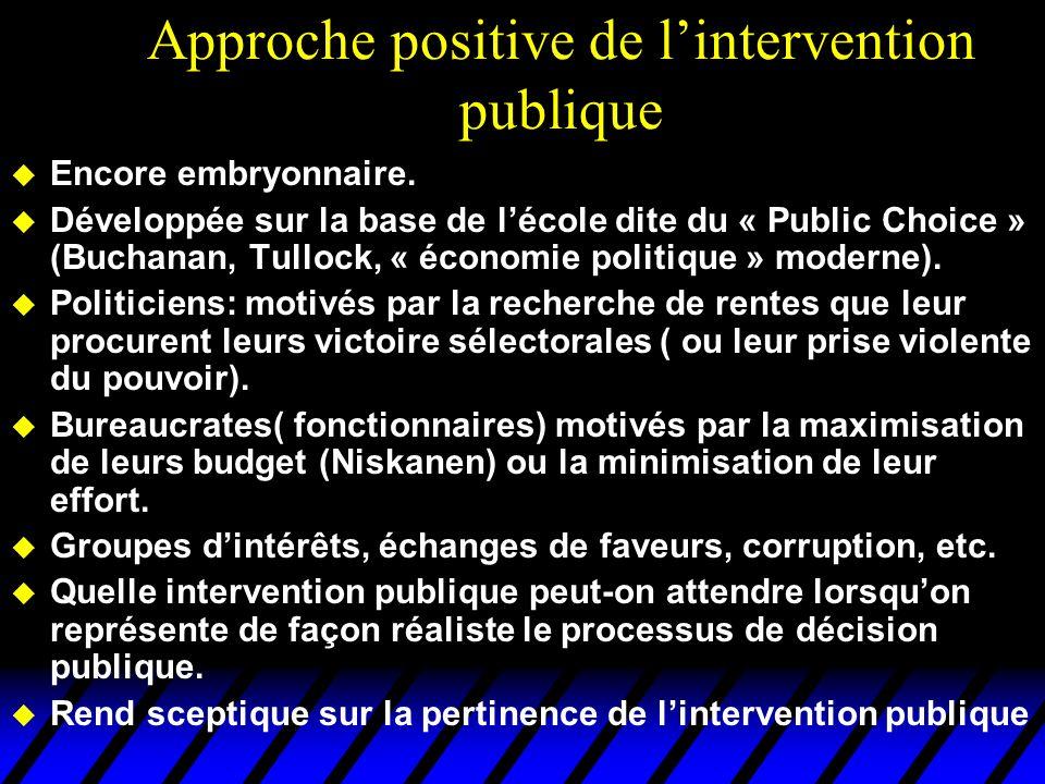 Approche positive de l'intervention publique