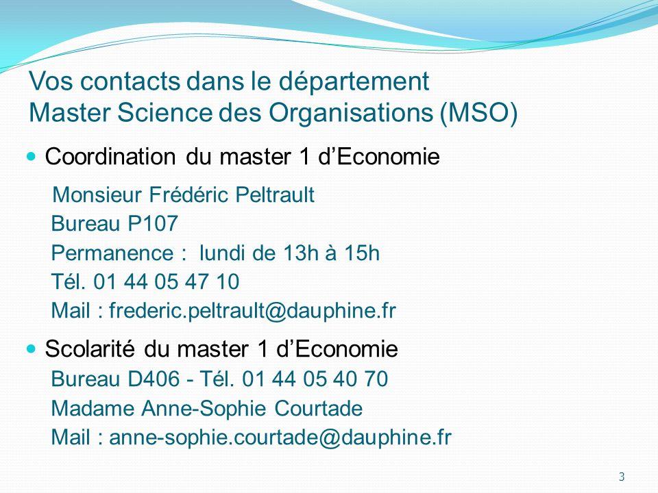 Vos contacts dans le département Master Science des Organisations (MSO)