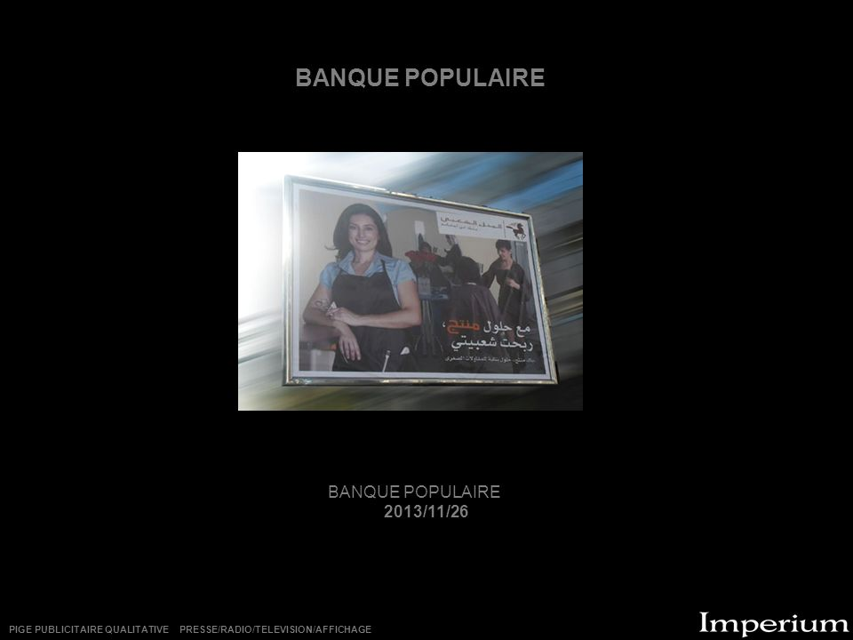 BANQUE POPULAIRE BANQUE POPULAIRE 2013/11/26