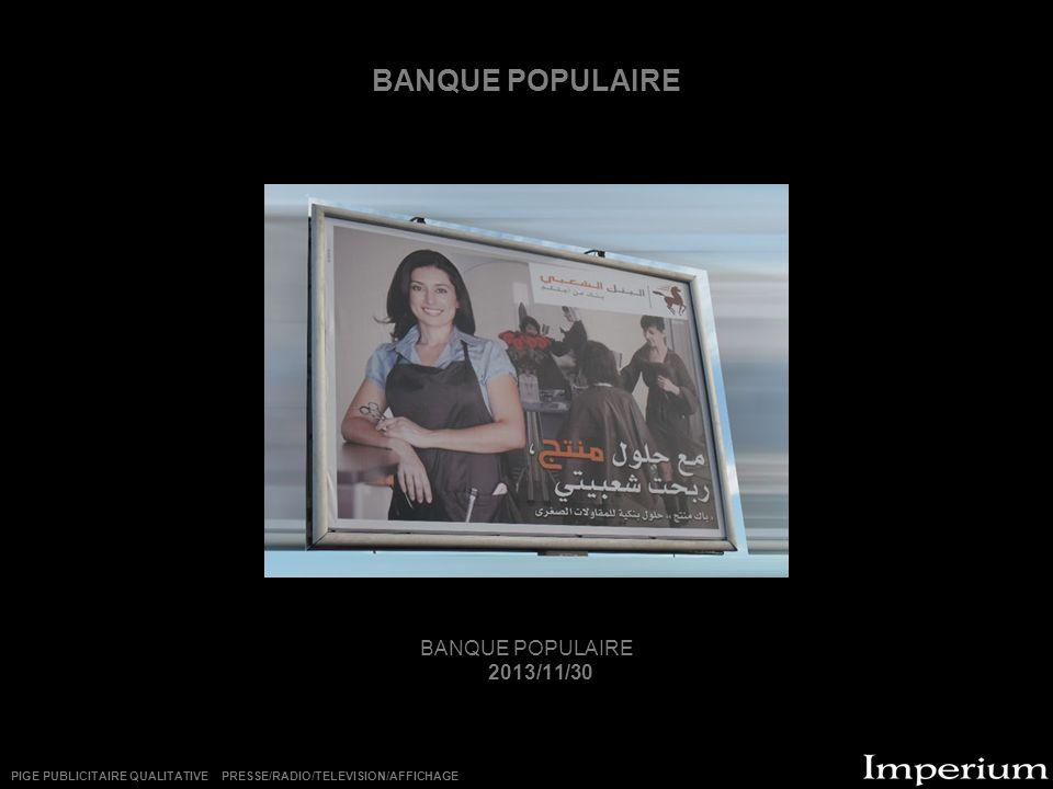 BANQUE POPULAIRE BANQUE POPULAIRE 2013/11/30