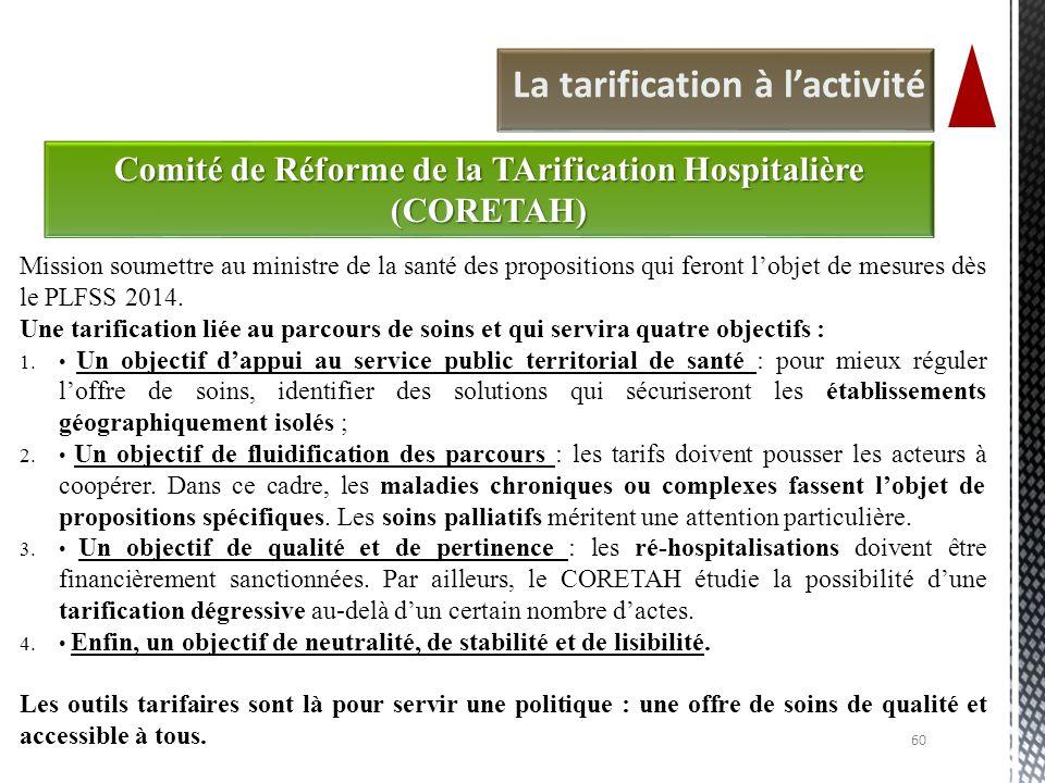 Comité de Réforme de la TArification Hospitalière (CORETAH)