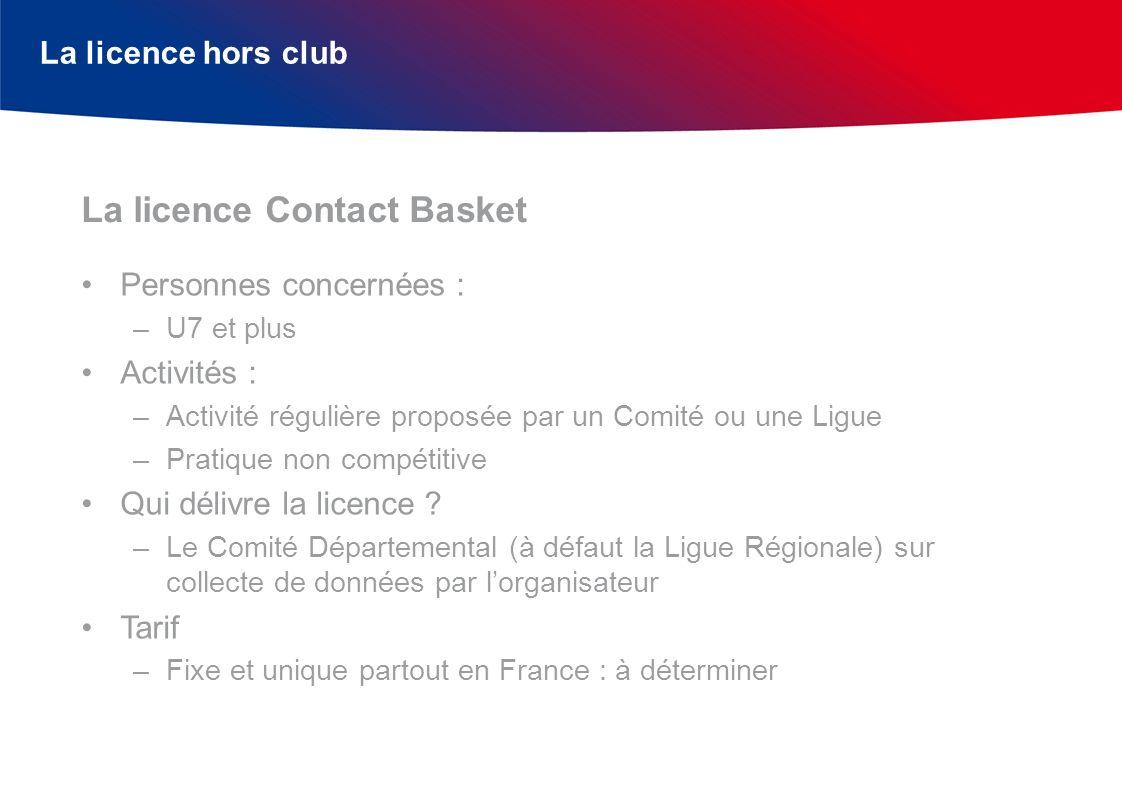 La licence Contact Basket