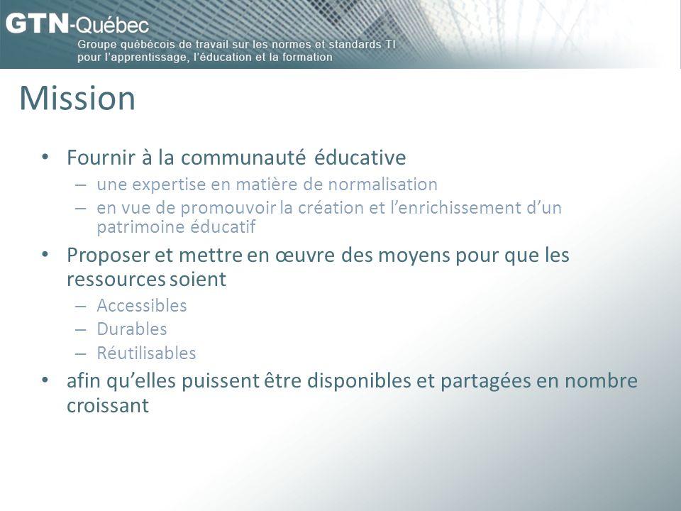 Mission Fournir à la communauté éducative