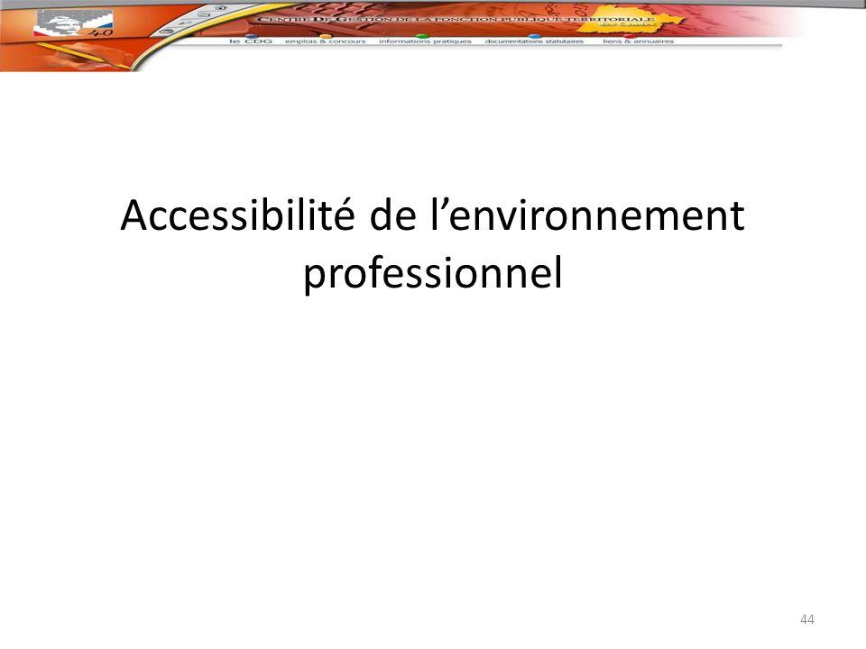 Accessibilité de l'environnement professionnel