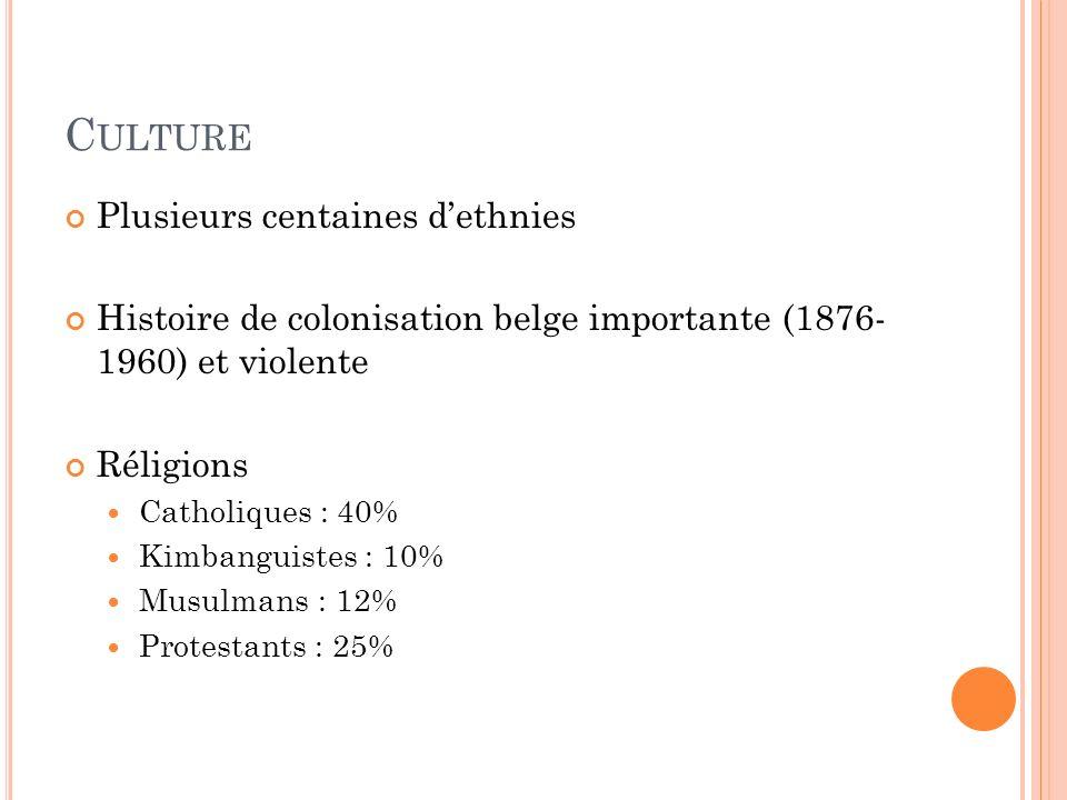 Culture Plusieurs centaines d'ethnies