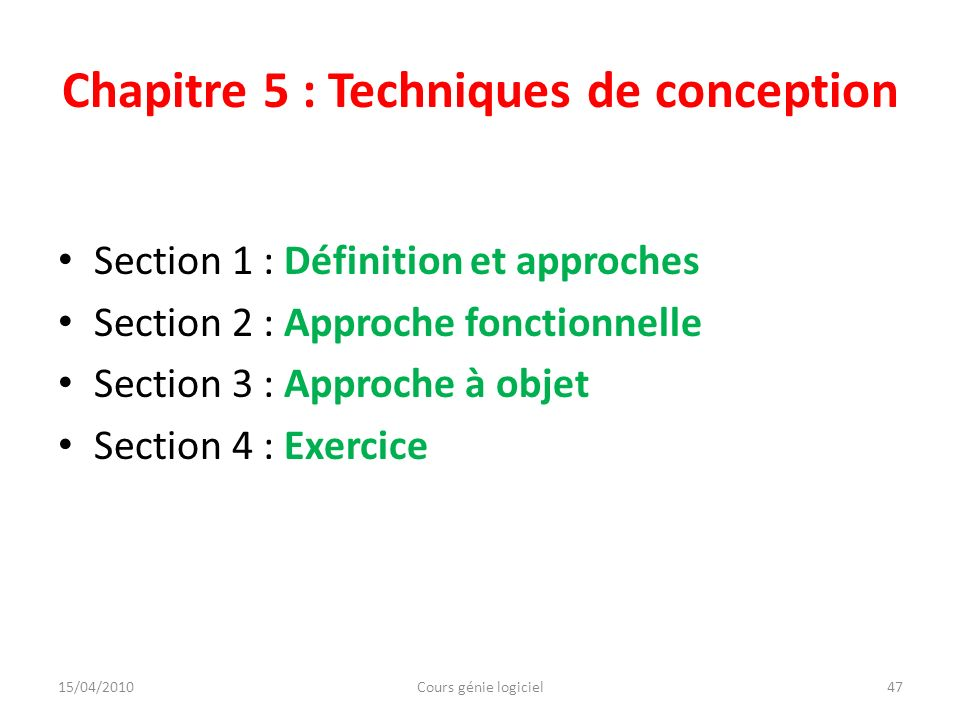 Cours g nie logiciel labor par amami maha ppt t l charger - Definition de conception ...