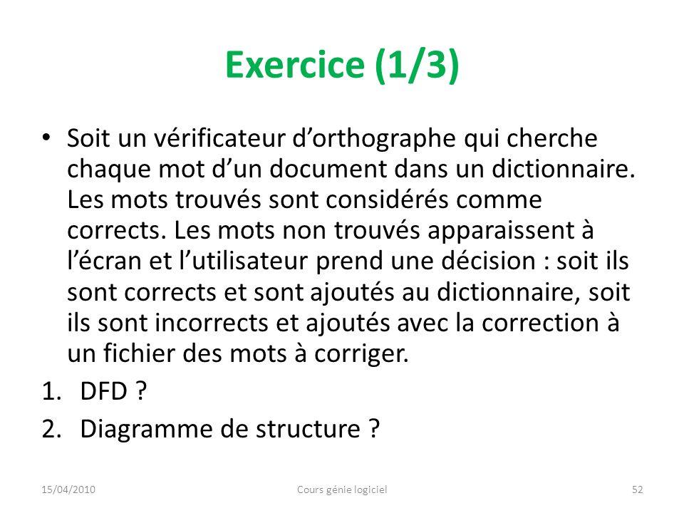 Exercice (1/3)