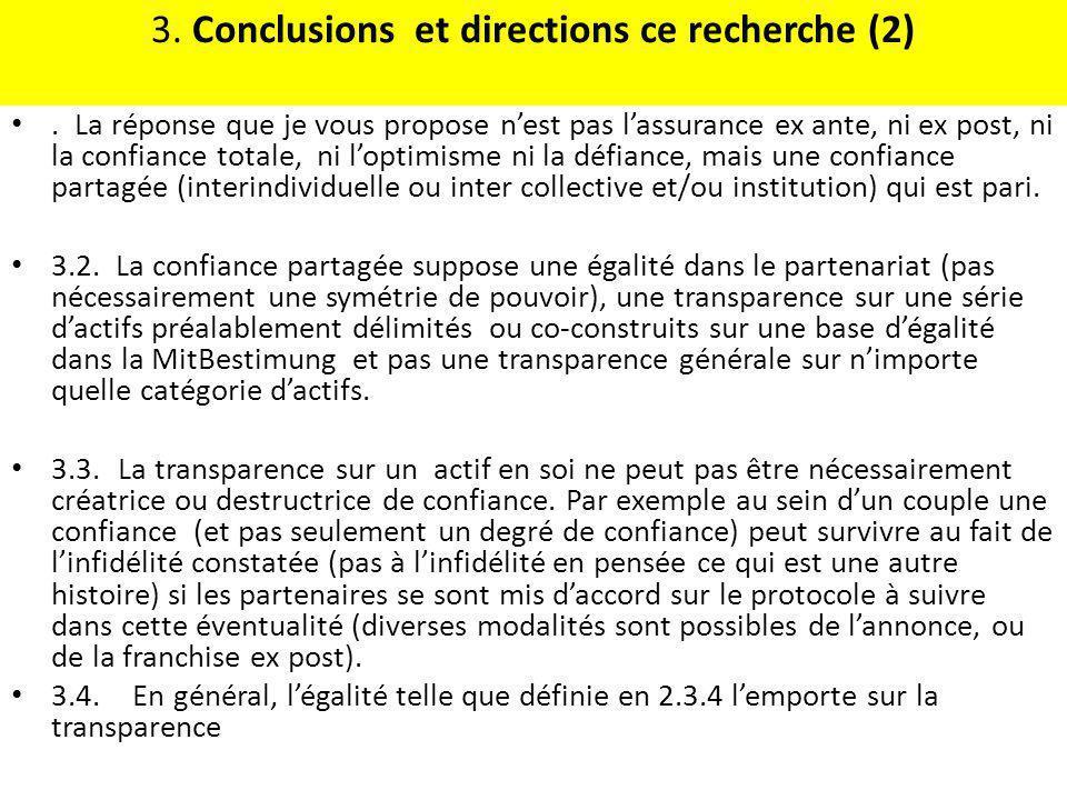 3. Conclusions et directions ce recherche (2)