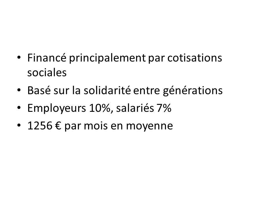 Financé principalement par cotisations sociales