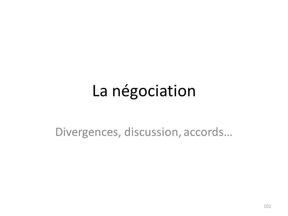Divergences, discussion, accords…