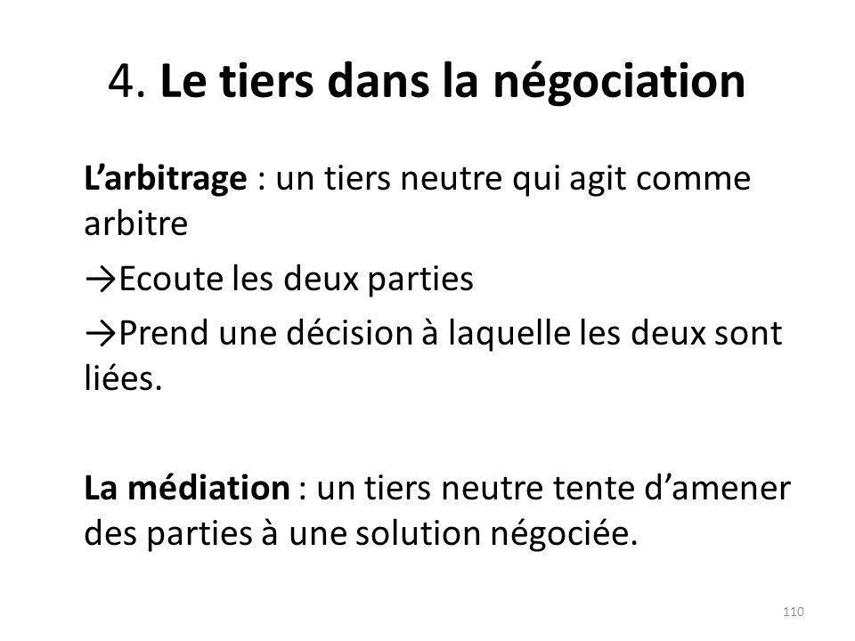 4. Le tiers dans la négociation