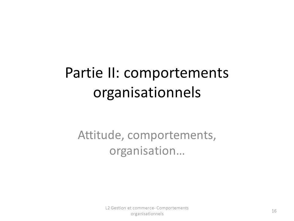 Partie II: comportements organisationnels