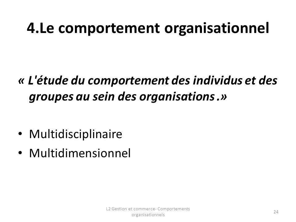 4.Le comportement organisationnel