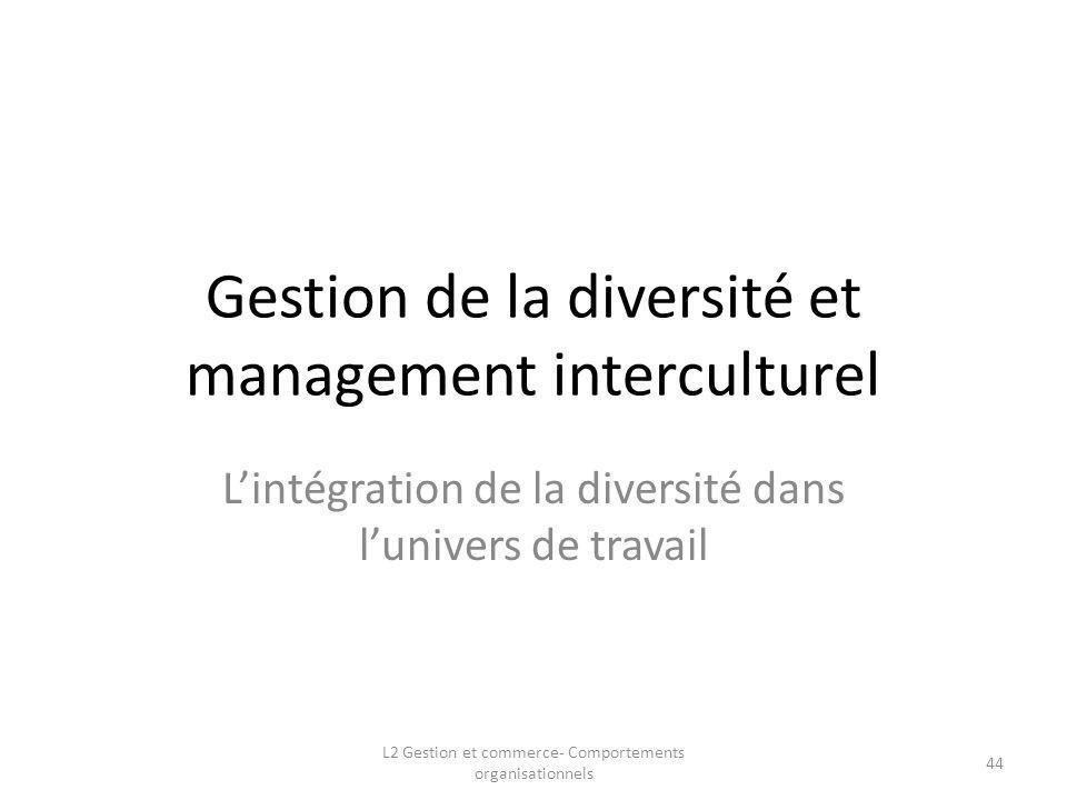 Gestion de la diversité et management interculturel