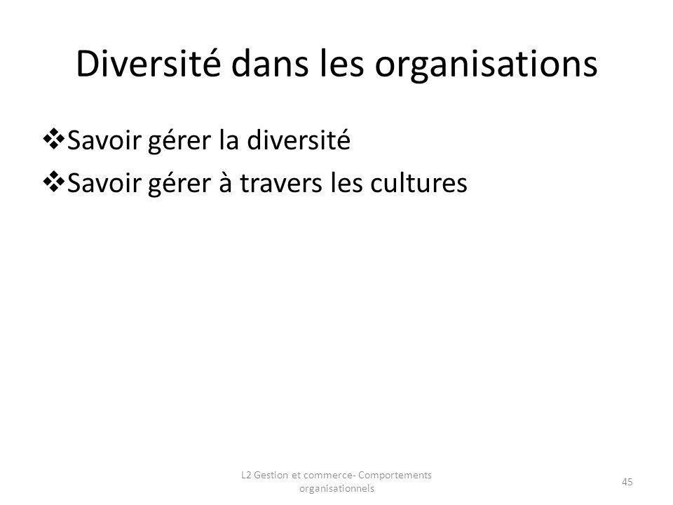 Diversité dans les organisations
