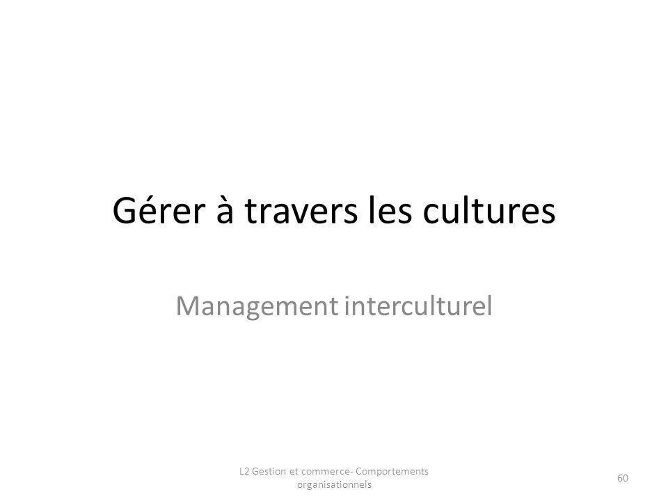Gérer à travers les cultures
