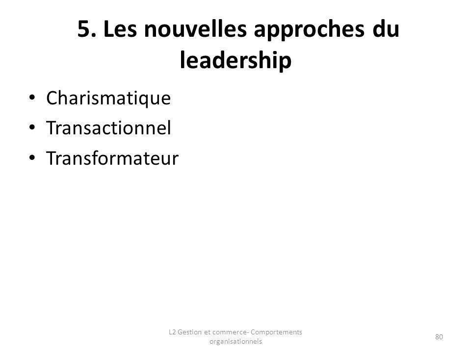 5. Les nouvelles approches du leadership
