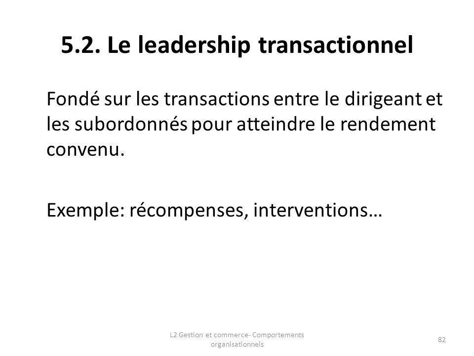5.2. Le leadership transactionnel