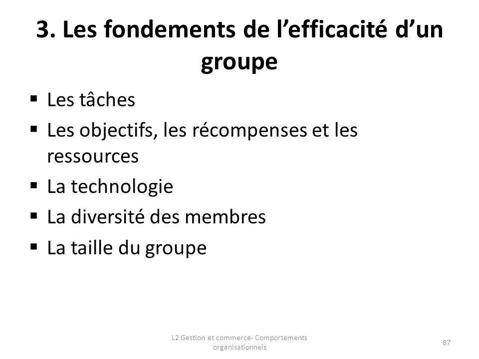3. Les fondements de l'efficacité d'un groupe