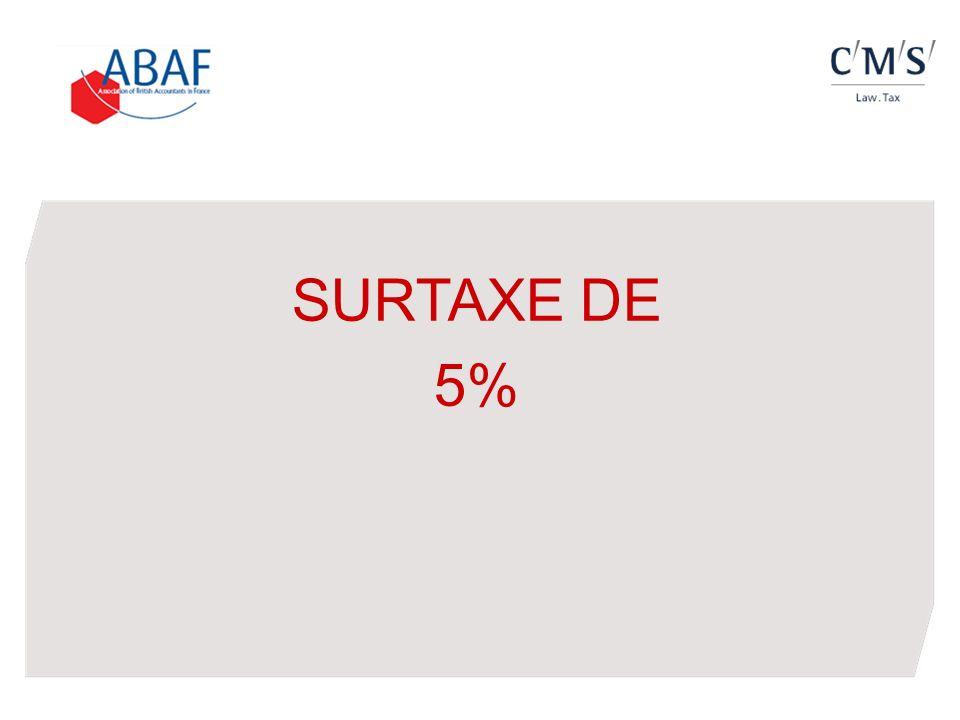 SURTAXE DE 5%