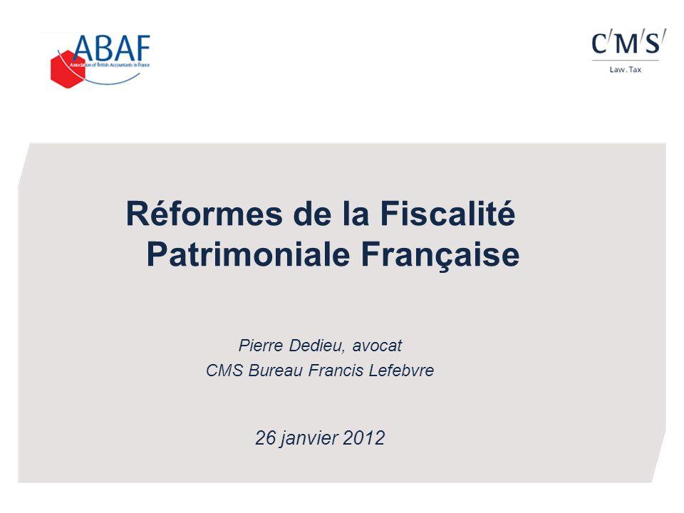 Réformes de la Fiscalité Patrimoniale Française