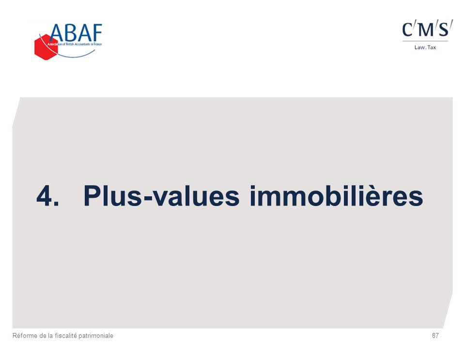 4. Plus-values immobilières