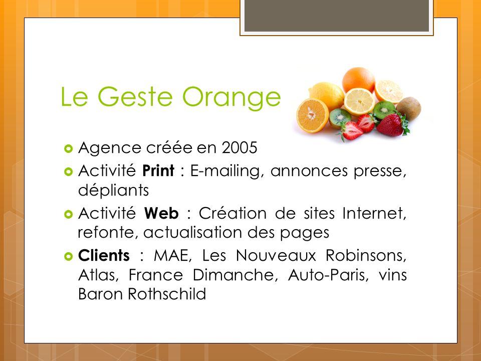 Le Geste Orange Agence créée en 2005