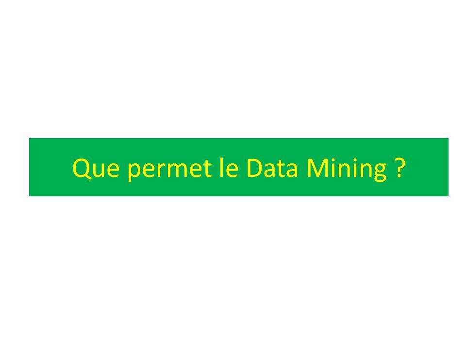 Que permet le Data Mining