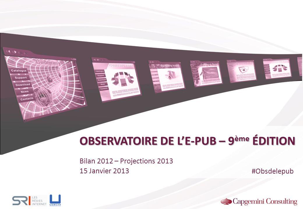 OBSERVATOIRE DE L'E-PUB – 9ème ÉDITION