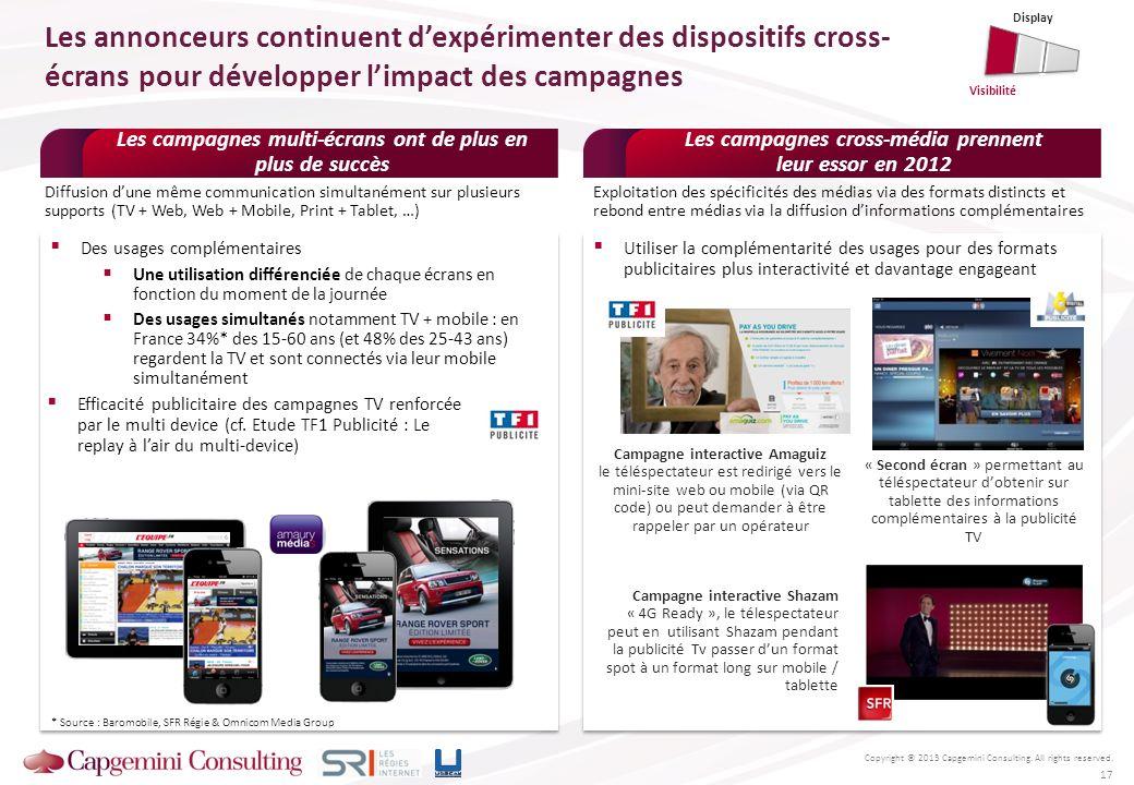 Display Les annonceurs continuent d'expérimenter des dispositifs cross-écrans pour développer l'impact des campagnes.