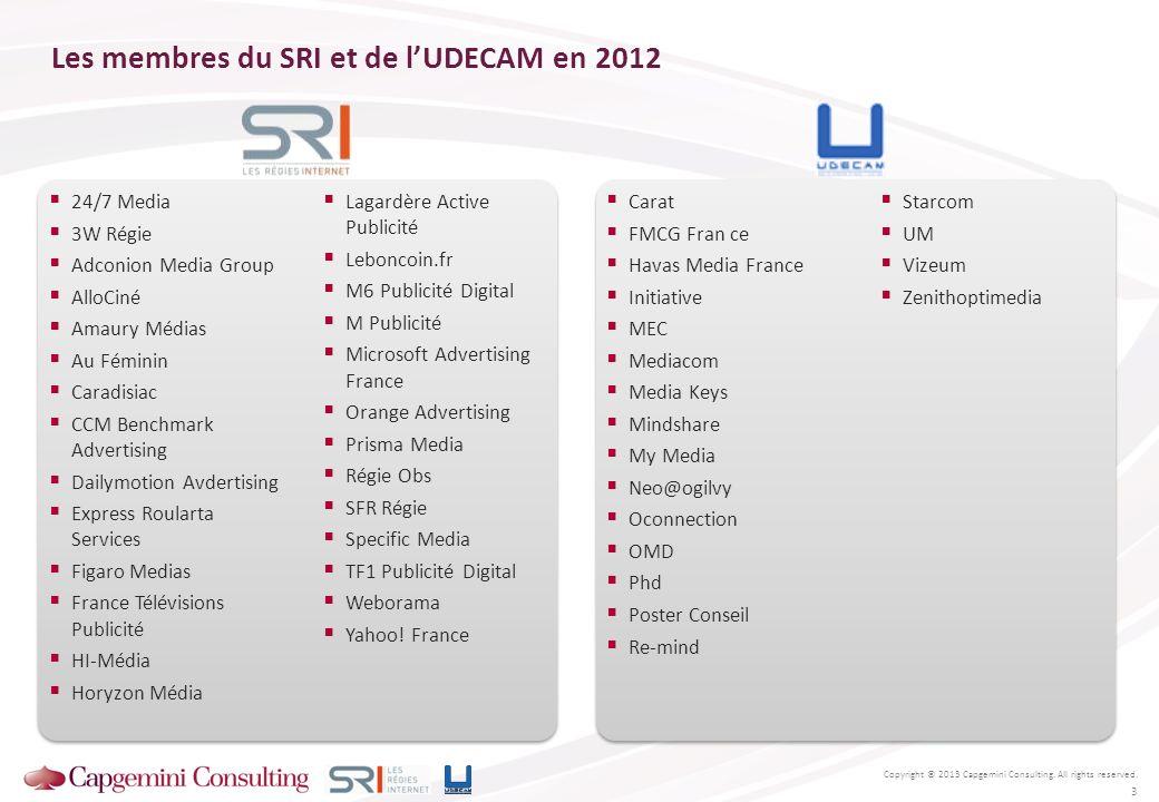 Les membres du SRI et de l'UDECAM en 2012