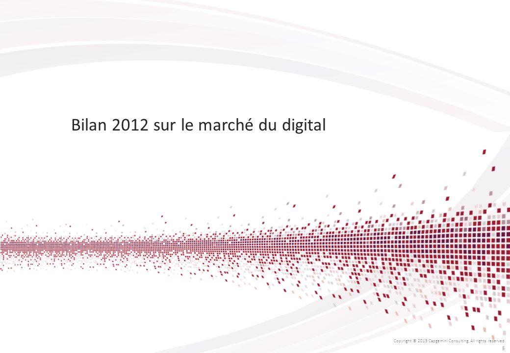 Bilan 2012 sur le marché du digital