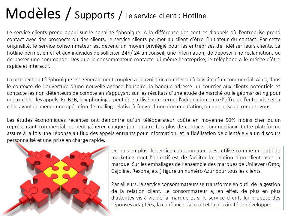 Modèles / Supports / Le service client : Hotline