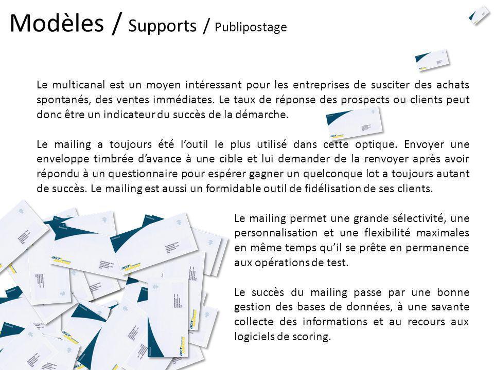 Modèles / Supports / Publipostage