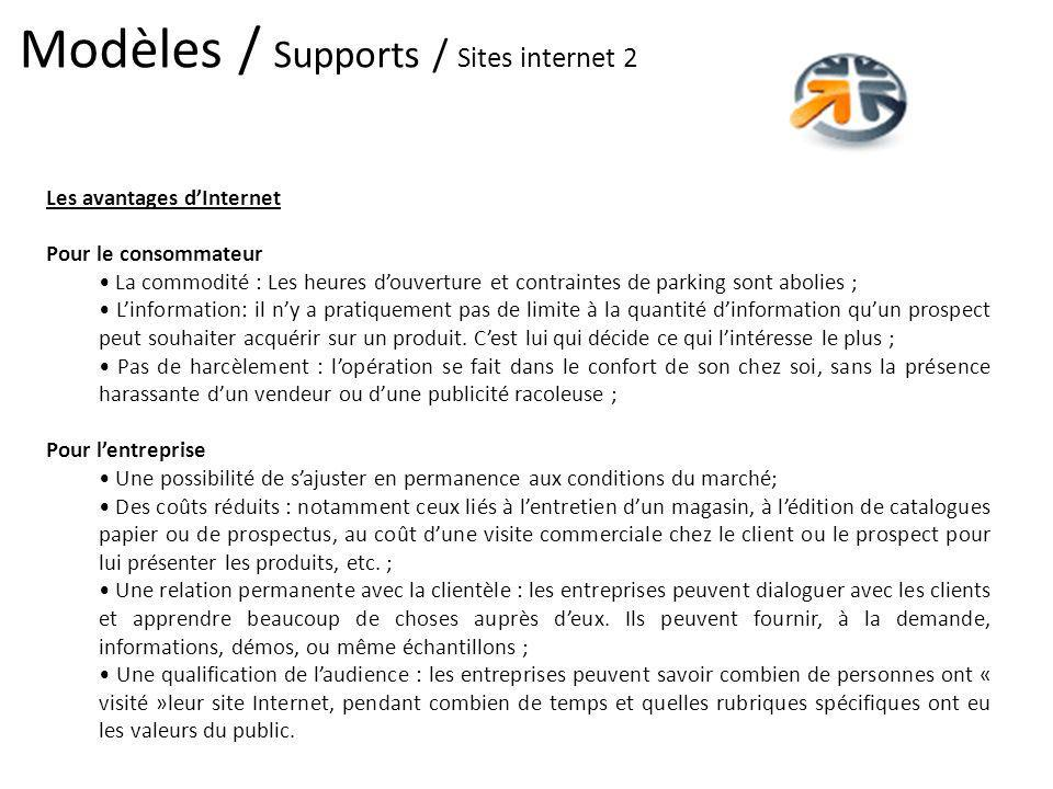 Modèles / Supports / Sites internet 2