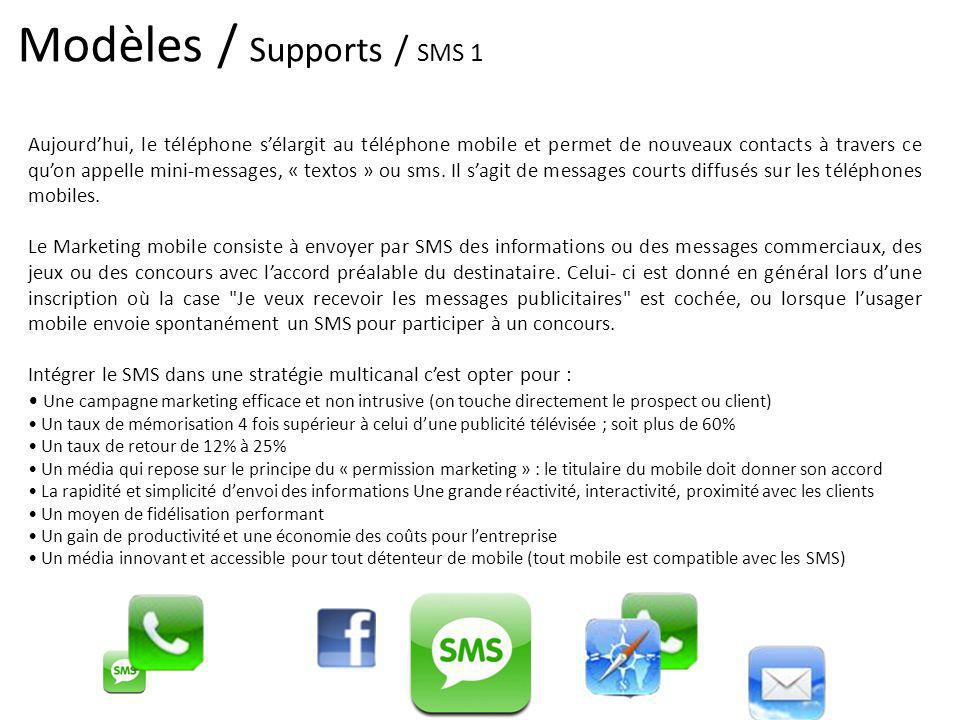 Modèles / Supports / SMS 1