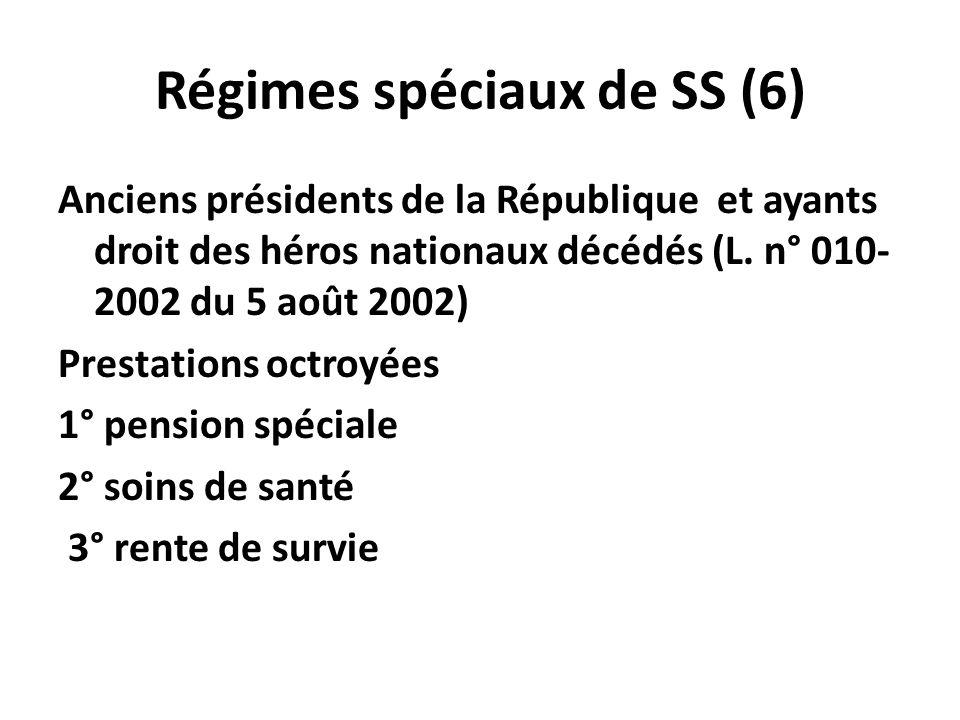 Régimes spéciaux de SS (6)
