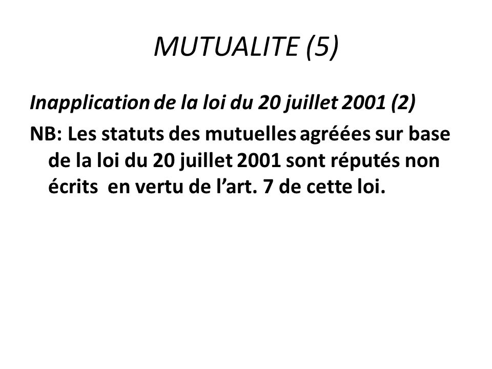 MUTUALITE (5)