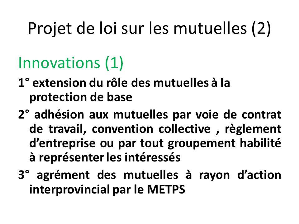 Projet de loi sur les mutuelles (2)